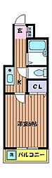 ラ・ジオン[4階]の間取り