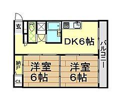 エトワール板宿[4階]の間取り