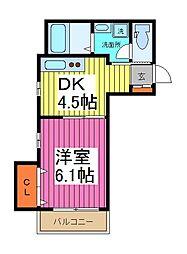モアナ・ティアレ[2階]の間取り
