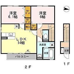 WIT-L 神辺[2階]の間取り