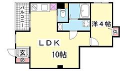 花隈岩崎マンション[102号室]の間取り