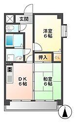 エステート岩塚[9階]の間取り