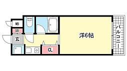 ファミーラ甲南[2階]の間取り