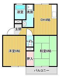 セジュールASUKA[2階]の間取り