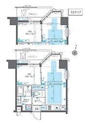 東京メトロ副都心線 北参道駅 徒歩7分の賃貸マンション 9階1LDKの間取り