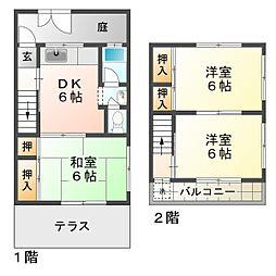 [タウンハウス] 兵庫県神戸市垂水区西舞子2丁目 の賃貸【/】の間取り