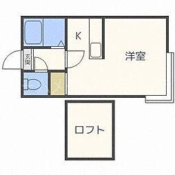 グランステージ豊平[2階]の間取り