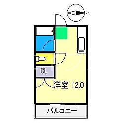 ベルデン朝倉[6階]の間取り