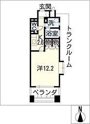 グラン・アベニュー名駅[3階]の間取り