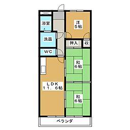 愛知県名古屋市港区油屋町3丁目の賃貸マンションの間取り