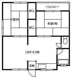福岡県糸島市前原東2丁目の賃貸アパートの間取り