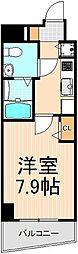 東京都台東区千束1丁目の賃貸マンションの間取り