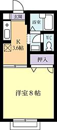 サニーコーポ(真鍋)[0105号室]の間取り