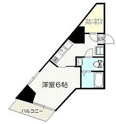 JR山手線 大塚駅 徒歩5分の賃貸マンション 8階1Kの間取り
