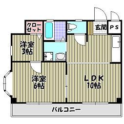 アパートメント翆月[2階]の間取り