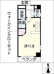 PARK FRONT NAKAMURA[4階]の間取り