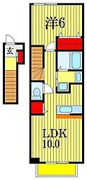 アルコバレーノ[2階]の間取り