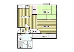 東京都板橋区高島平1丁目の賃貸マンションの間取り