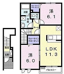 レジデンス菅原[2階]の間取り