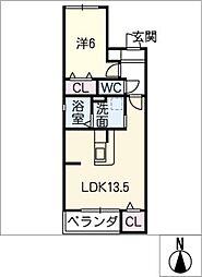 愛知県名古屋市緑区若田3丁目の賃貸マンションの間取り