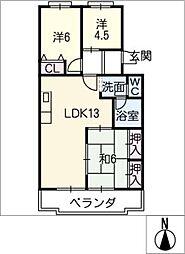 レスポワール石川B[2階]の間取り