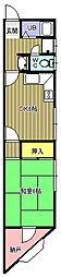 ハイデンス西難波II[2階]の間取り