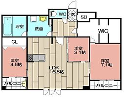 エンクレスト博多STYLE[14階]の間取り