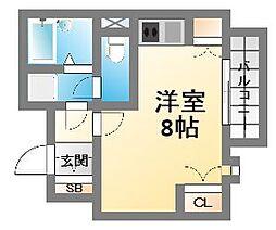 I Cube阿波座[3階]の間取り