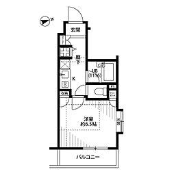 プレール・ドゥーク西新宿[5階]の間取り