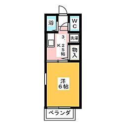 エトワール勝川[1階]の間取り