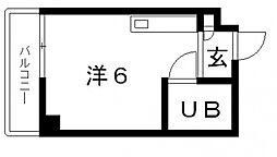 プラスパーハイツ[4階]の間取り