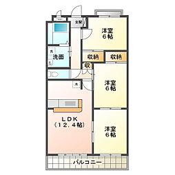 カンファタブル[4階]の間取り