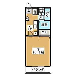 マンションTENYU[2階]の間取り