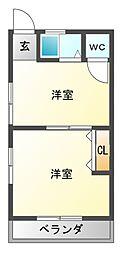 ふぉれすたしのだ[2階]の間取り