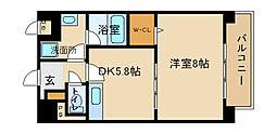 兵庫県姫路市飾磨区上野田6丁目の賃貸マンションの間取り