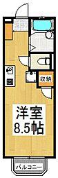 エスポワールヴィル竹松[2階]の間取り