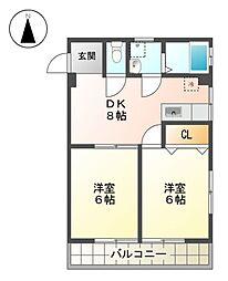 第2マルカネビル[4階]の間取り