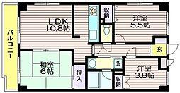 東京都杉並区上高井戸1の賃貸マンションの間取り
