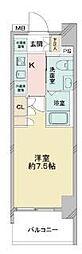 京成押上線 青砥駅 徒歩13分の賃貸マンション 9階1Kの間取り
