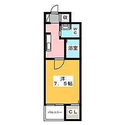 サニーカーサ[4階]の間取り