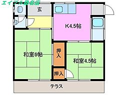 [一戸建] 三重県桑名市大字北別所 の賃貸【三重県 / 桑名市】の間取り