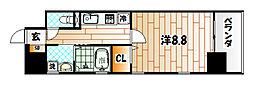 MDIグランデラブロ香春口[8階]の間取り