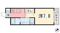 エクシード[102号室]の間取り