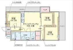 ミュウハウス[1階]の間取り