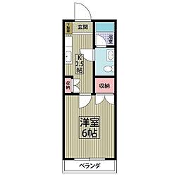 埼玉県春日部市西八木崎3丁目の賃貸アパートの間取り