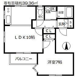 プレシャスJ1[4階]の間取り