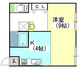 オリオンコーポ[1A号室号室]の間取り
