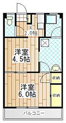 東京都町田市南大谷の賃貸マンションの間取り
