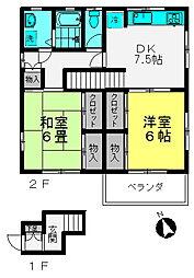 横川町駐車場付アパート[201号室]の間取り