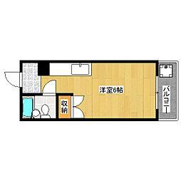 エクセラード京都[2階]の間取り